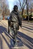 Staty av Gandhi på det kanadensiska museet för mänskliga rättigheter Arkivbilder
