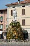 Staty av Garibaldi, Iseo, Italien Arkivbild