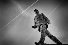 Staty av general de Gaulle Arkivbilder