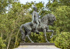 Staty av general Joan Prim i Barcelona Royaltyfria Bilder