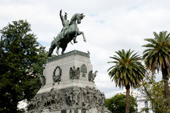 Staty av general Jose De San Martin - Cordoba - Argentina royaltyfria foton