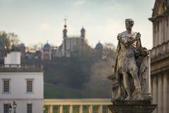Staty av George II i Greenwich royaltyfria foton