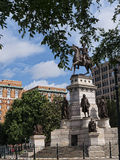 Staty av George Washington på utkanten av Washington DC USA Arkivbilder