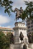 Staty av George Washington på utkanten av Washington DC USA Royaltyfri Bild