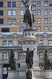 Staty av George Washington på utkanten av Washington DC USA Royaltyfria Foton