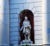Staty av Gioacchino Rossini Arkivbilder
