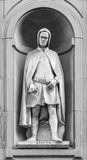 Staty av Giotto di Bondone i Florence Arkivbild