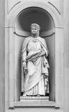 Staty av Giovanni Boccaccio i Florence Royaltyfri Foto