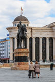Staty av Goce Delchev, Skopje Arkivfoton