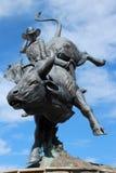 Staty av grändfrost, Cheyenne, Wyoming Royaltyfri Fotografi