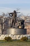 Staty av gruvarbetare 2 royaltyfria foton