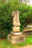 Staty av Hadrian i den forntida marknadsplatsen av Aten Royaltyfri Bild