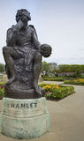 Staty av Hamlet William Shakespeare Arkivfoton