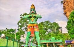 Staty av Hanuman, en hinduisk gud, på den Ramayana grottan, Batu grottor, Kuala Lumpur Royaltyfri Bild