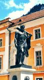 Staty av Hercules-Baile Herculane, Rumänien Arkivfoton