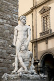 Staty av Hercules och Cacus Arkivbilder