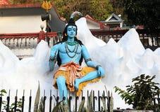 Staty av hinduiska Lord Shiva, Rishikesh india Arkivbild
