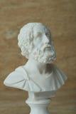 Staty av Homer, gammalgrekiskapoet royaltyfri bild