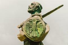 Staty av Ivan CrnojeviÄ ‡, hjälte av Montenegro Arkivbilder