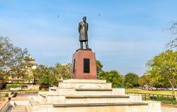 Staty av Jawaharlal Nehru, den första premiärministern av Indien, i Jaipur arkivbilder