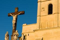 Staty av Jesus Christ Avignon, Frankrike Royaltyfri Fotografi
