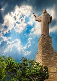 Staty av Jesus Christ i Tudela, Spanien Arkivfoto