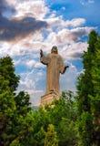 Staty av Jesus Christ i Tudela, Spanien Arkivbilder