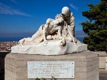Staty av Jesus Christ och helgonet Veronica (1902). Marseilles Fr Arkivfoton