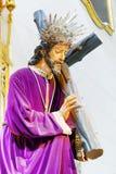 Staty av Jesus Christ på domkyrkan av La Almudena, Madrid Fotografering för Bildbyråer