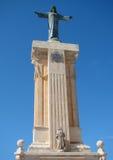 Staty av Jesus Christ på monteringen av Monte Toro Royaltyfria Bilder