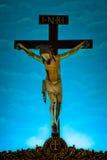 Staty av Jesus Christ, Sts Jerome kyrka, Mapusa, Goa, Indien Royaltyfria Foton
