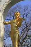 Staty av Johann Strauss Arkivbild