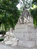Staty av Johannes Brahms, Wien, Österrike Arkivbilder