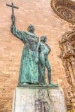 Staty av Junipero Serra Arkivbild