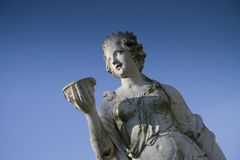 Staty av Juno på Jans Park i Arnhem Royaltyfri Fotografi