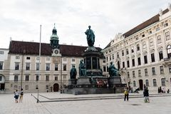 Staty av Kaiser Franz Joseph I Royaltyfria Bilder