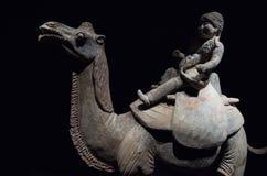 Staty av kamelryttaren Arkivbild