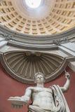 Staty av kejsaren Claudius i den runda Hallen vatican rome Royaltyfri Bild