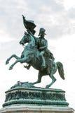 Staty av kejsaren Franz Joseph på en häst Fotografering för Bildbyråer