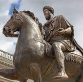 Staty av kejsaren Marcus Aurelius Royaltyfria Bilder