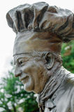 Staty av kocken Boyardee arkivfoto