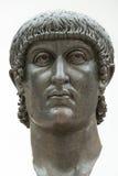 Staty av kolossen av Constantine det stort i Rome, Italien Fotografering för Bildbyråer