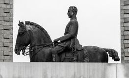 Staty av konungen Albert I Arkivfoton