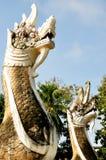 Staty av konungen av Nagas Royaltyfri Fotografi
