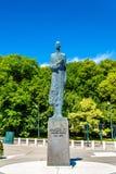 Staty av konungen Haakon VII i Oslo Royaltyfri Bild