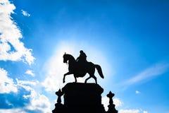 Staty av konungen Johann, Dresden Arkivbild