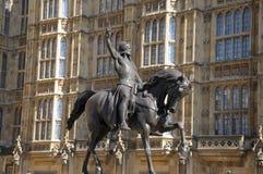 Staty av konungen Richard 1st Royaltyfria Foton
