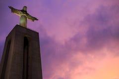 Staty av Kristus konungen i Lissabon Royaltyfria Foton
