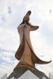 Staty av Kun mig förmiddag i Macao arkivfoton