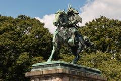 Staty av Kusunoki Masashige i Tokyo Royaltyfri Fotografi